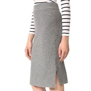 Madewell Wool Pencil Skirt